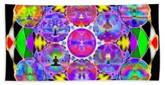 Beach Towel featuring the digital art Metatron's Cosmic Ascension by Derek Gedney