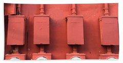 Meter Reader Red 2 Beach Sheet