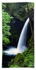 Metlako Falls Waterfall Art By Kaylyn Franks Beach Towel