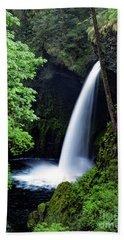 Metlako Falls Waterfall Art By Kaylyn Franks Beach Sheet