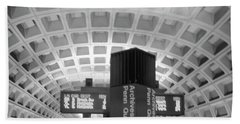 Beach Towel featuring the photograph Metro Station D C by John S