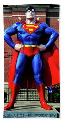 Metropolis - Home Of Superman 001 Beach Towel by George Bostian