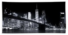 Metropolis Beach Towel by Mark Andrew Thomas