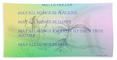 Metta Prayer Beach Towel