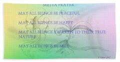 Metta Prayer Beach Sheet