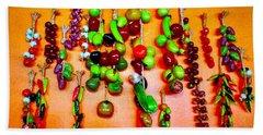 Mexican Hot Peppers Beach Towel by Sadie Reneau