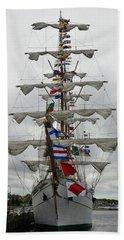 Mexican Navy Ship Beach Towel