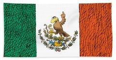 Mexico Flips Bird Beach Towel
