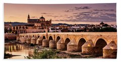 Mezquita In The Evening Beach Sheet by Marion McCristall