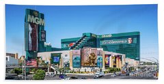 Beach Towel featuring the photograph Mgm Grand Casino  2 To 1 Ratio by Aloha Art