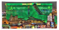 Mgm Grand Las Vegas Beach Towel by Nicholas  Grunas