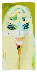 Mia 2 Beach Towel by Ann Calvo