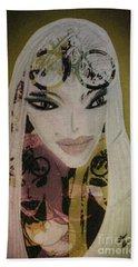 Mia Beach Towel by Ann Calvo