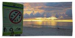 Miami Beach Sunrise Beach Towel