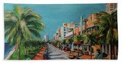 Miami For Daisy Beach Towel