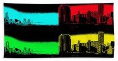 Miami Pop Art Panorama Beach Sheet by Christiane Schulze Art And Photography