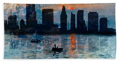 Miami Skyline 7 Beach Towel