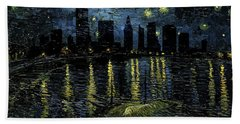 Miami Skyline 9 Beach Towel