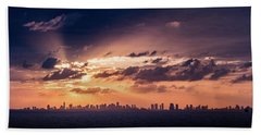 Miami Sunset Pano Beach Towel