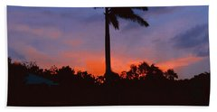 Miami Sunset Beach Towel