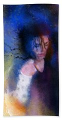 Michael Jackson 16 Beach Towel by Miki De Goodaboom