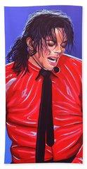 Michael Jackson 2 Beach Sheet by Paul Meijering