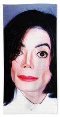 Michael Jackson Mugshot Beach Towel by Bill Cannon