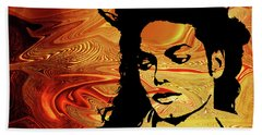 Michael Jackson Beach Towel by Prar Kulasekara