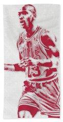 Michael Jordan Chicago Bulls Pixel Art 2 Beach Towel