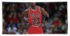 Michael Jordan, Number 23, Chicago Bulls Beach Towel