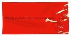 Michael Jordan Quote 1b Beach Towel by Brian Reaves
