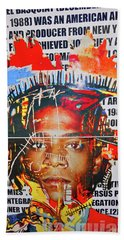 Michel Basquiat Beach Towel