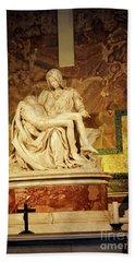 Michelangelo Masterpiece Of A Mother's Love Beach Sheet