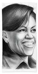 Michelle Obama Beach Towel by Greg Joens