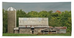 Michigan Dairy Barn Beach Sheet by Michael Peychich