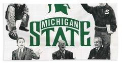 Michigan State Coaching Legends Beach Towel