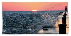 Michigan Summer Sunset Beach Towel