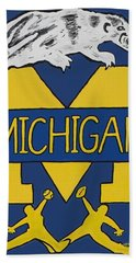 Michigan Wolverines Beach Towel by Jonathon Hansen