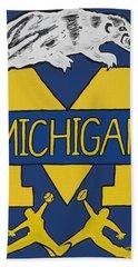 Michigan Wolverines Beach Sheet