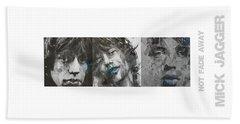 Mick Jagger Triptych Beach Sheet