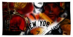Mickey Mantle Collection Beach Towel by Marvin Blaine
