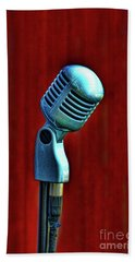 Microphone Beach Towel by Jill Battaglia
