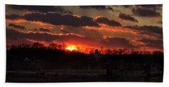 Beach Towel featuring the photograph Mid Ohio Sunset by Bruce Patrick Smith