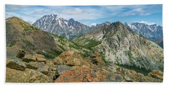 Beach Sheet featuring the photograph Midday At Iron Peak by Ken Stanback