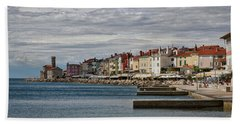 Beach Sheet featuring the photograph Midday In Piran - Slovenia by Stuart Litoff