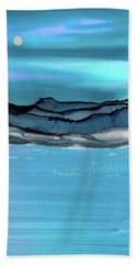 Midday Moon Beach Towel