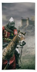 Middle Ages Knight Beach Towel
