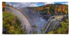 Middle Falls Rainbow Beach Towel