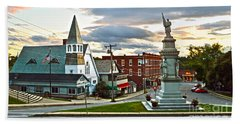 Middlebury Vermont At Sunset Beach Towel