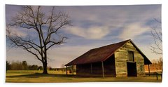 Beach Towel featuring the photograph Midnight At The Mule Barn by George Randy Bass